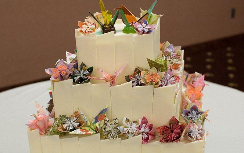 origami-wedding-cake