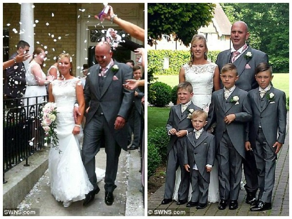 groom who almost died celebrates wedding day