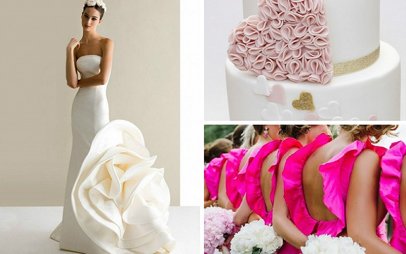 Host a ruffle theme wedding