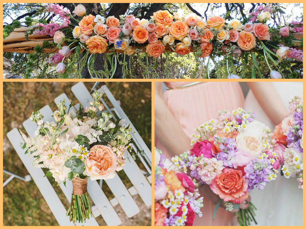peach wedding inspiration