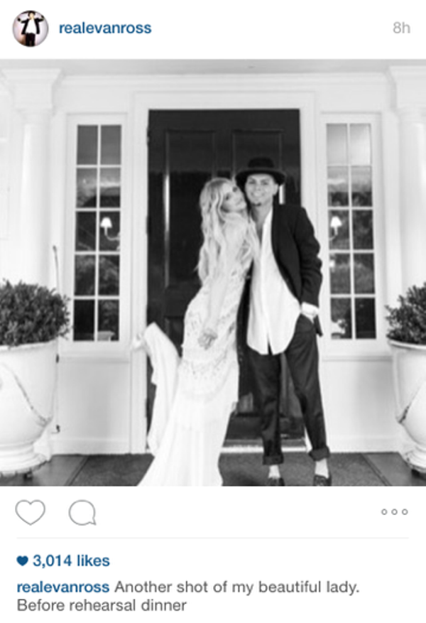 Evan Ross and Ashlee Simpson Wedding Pictures
