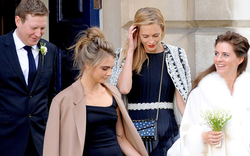 the delevingnes at sister Chloe's wedding