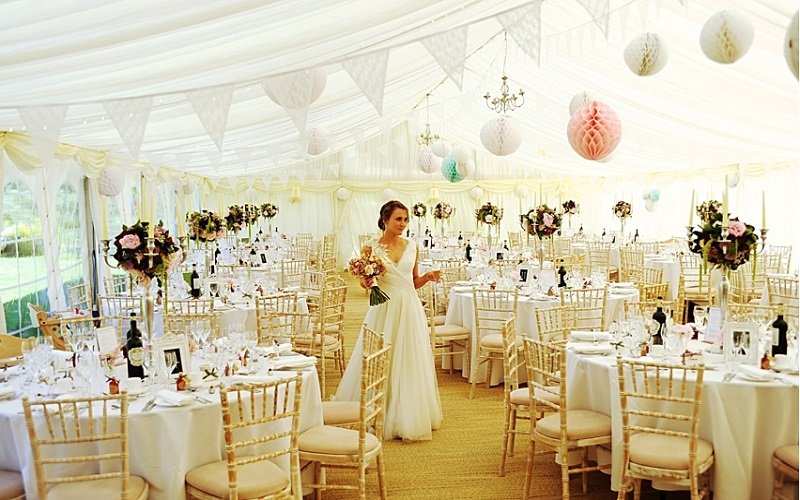 decorated marquee wedding