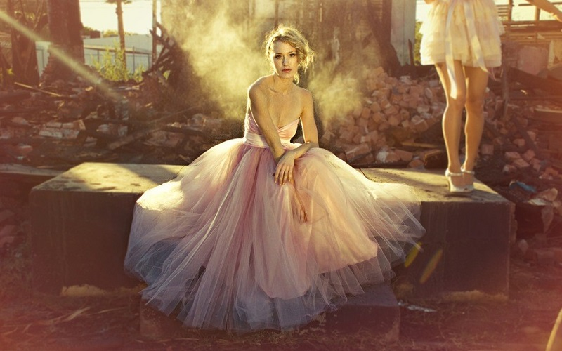 pink tulle wedding dress