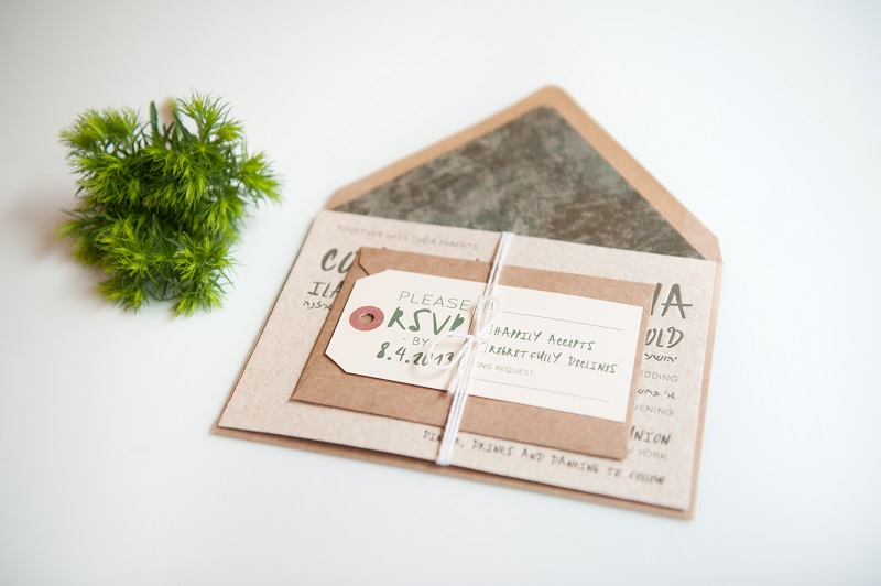wedding stationery & flower woodland (2)