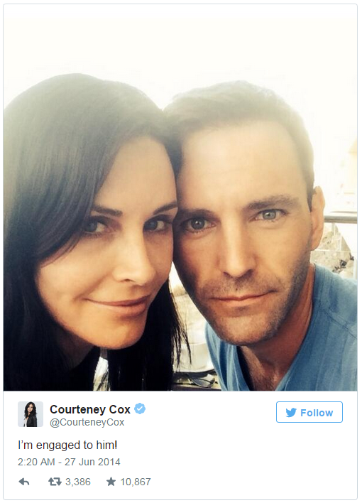 Courteney Cox and Johnny
