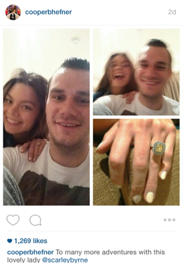 Playboy heir gets engaged