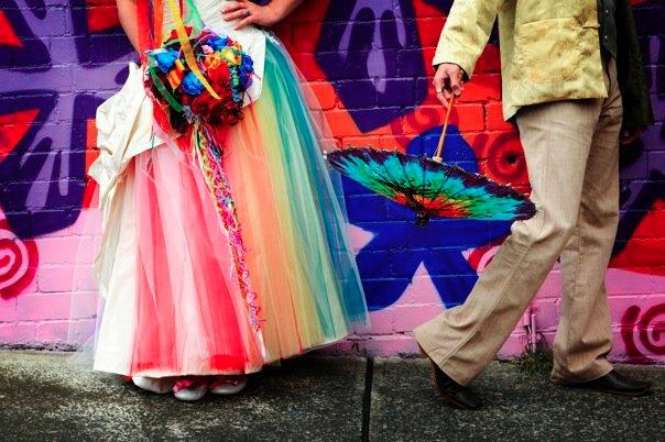 Rainbow wedding ideas dress Haircrazy.com