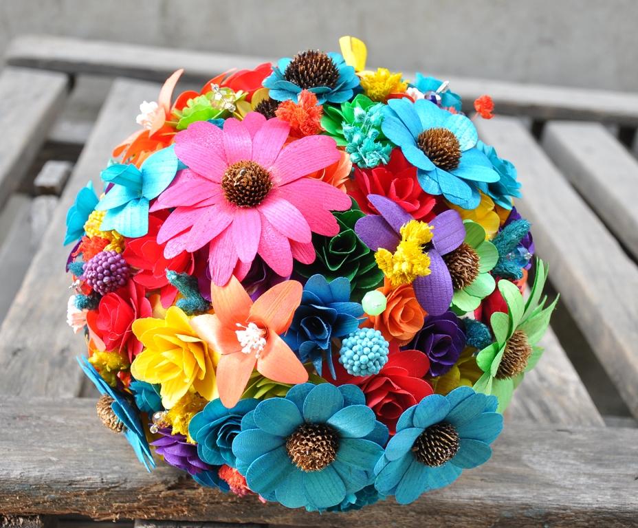 Rainbow wedding ideas flowers Kuaike.co