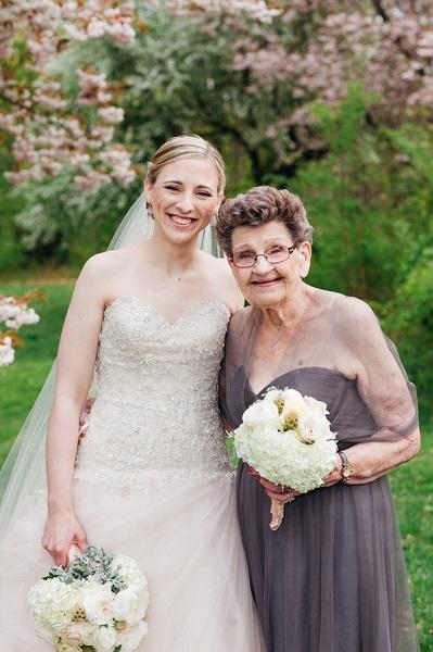 Bride has her 89-year-old Nana as bridesmaid