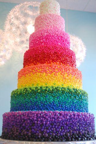 Weddingavatar Rainbow Wedding Cake Onewed