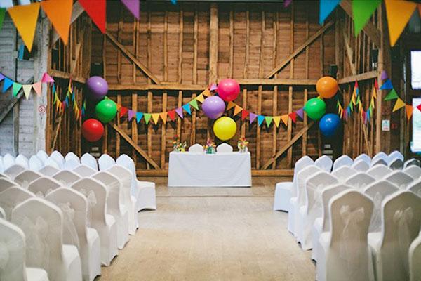 rainbow-wedding-ideas decor Invitesweddings.com