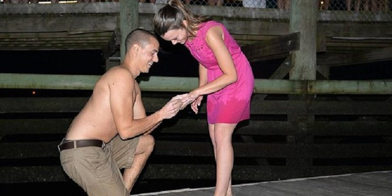 Oops! Man drops engagement ring into sea during proposal