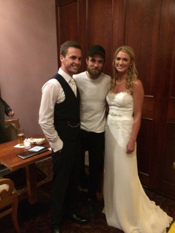 Robert Pattinson and Danny O'Donoghue crash wedding 2