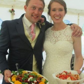 Couple's serve recycled wedding reception meal made from out-of-date food
