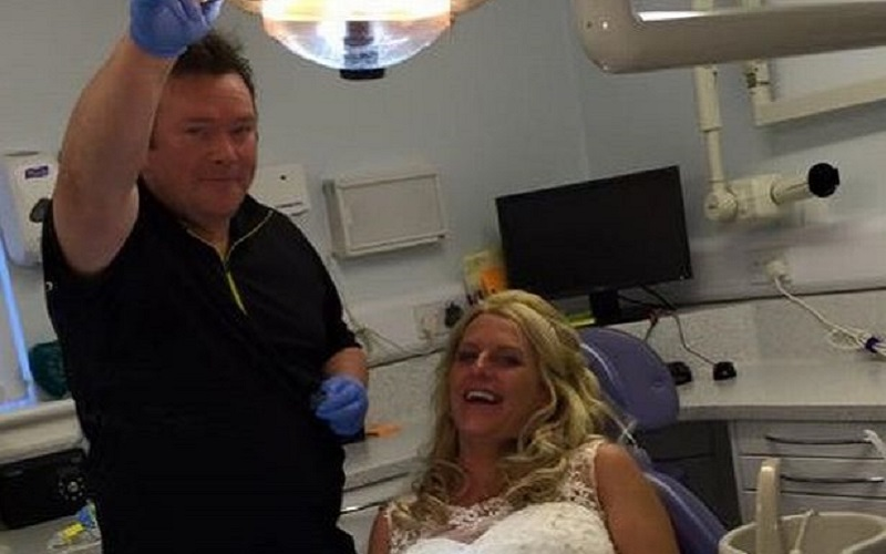 Bride ends up on dentist's chair on her wedding day