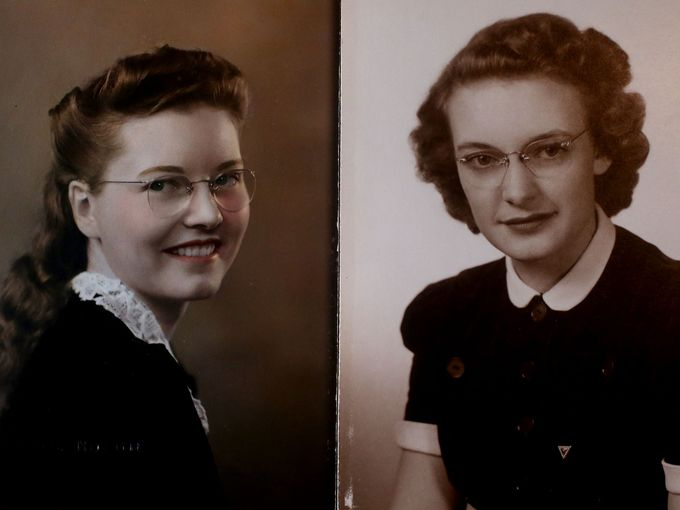 two young girls in the forties