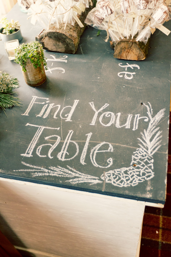 Chalkboard Tabletop Wedding Sign - elizabethannedesigns.com
