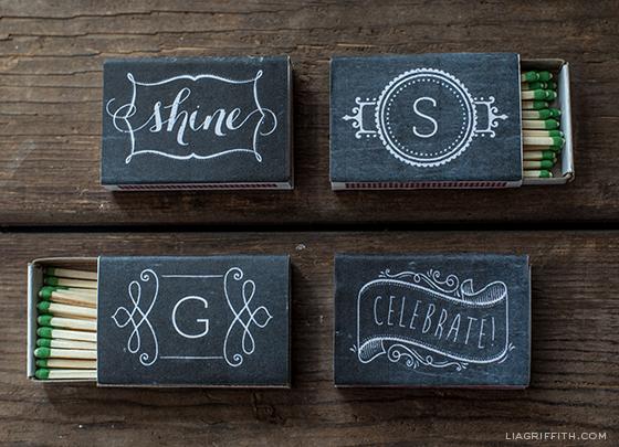 Chalkboard matches - ahandcraftedwedding.com