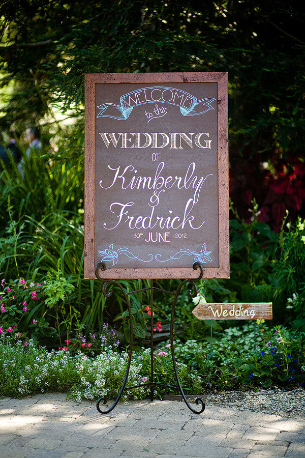 Charcoal welcome sign 2 - celebritystyleweddings.com