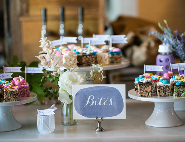 chalkboard dessert table signage - simplypeachy.com