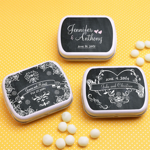 chalkboard style personalised mints - favoursandflowers.com