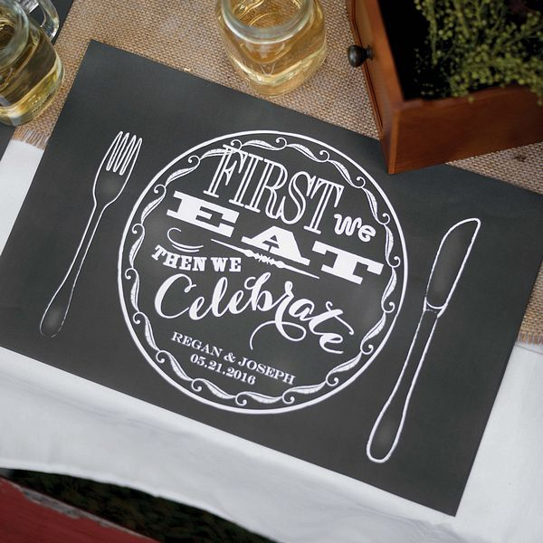chalkboard style placemats - pinterest.com