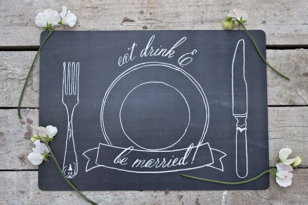 chalkboard style placemats - swoonedmagazine.co.uk