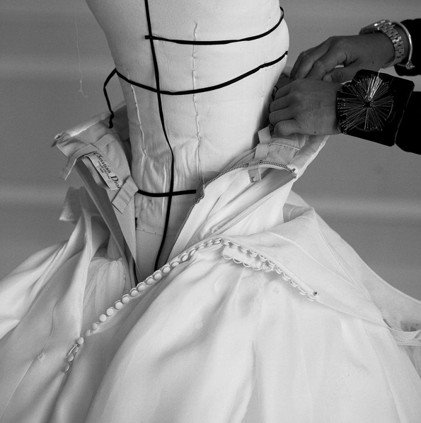 This bespoke Dior wedding dress was 5 months in the making