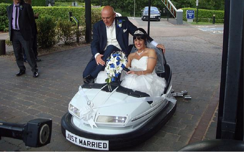 Image result for unusual wedding vehicles