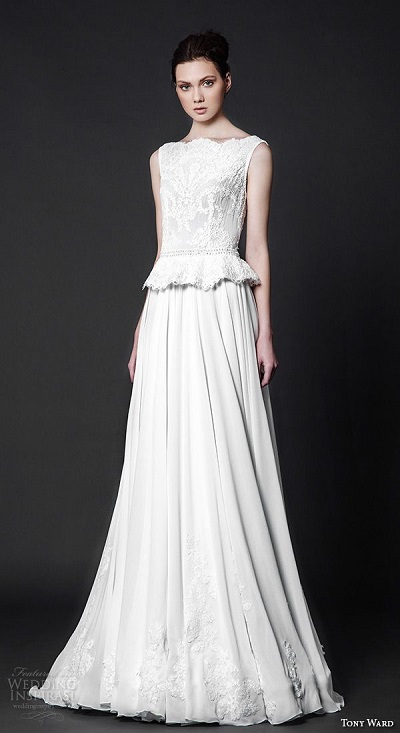 Tony Ward Peplum Wedding Dress