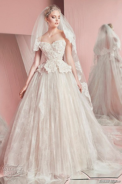 Zuhair Murad Peplum Wedding Dress