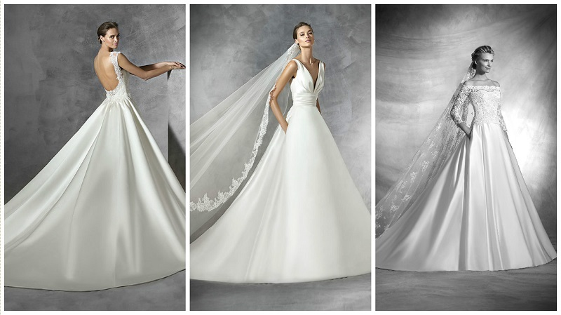 20 flattering satin wedding dresses