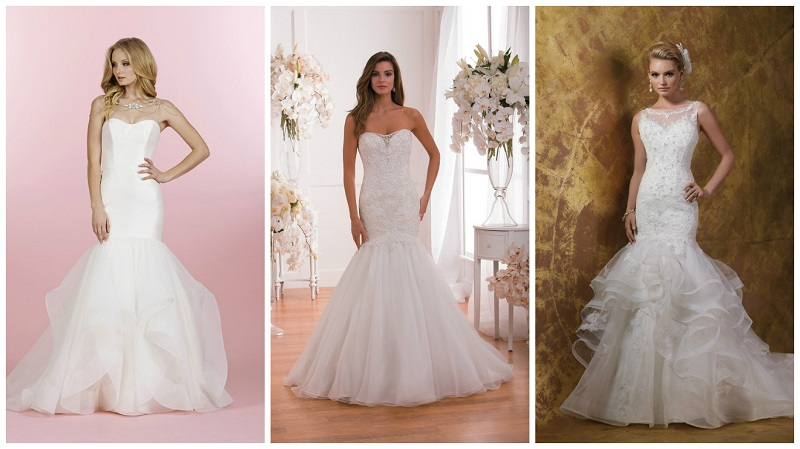 Tulle wedding dresses - fit and flare 1