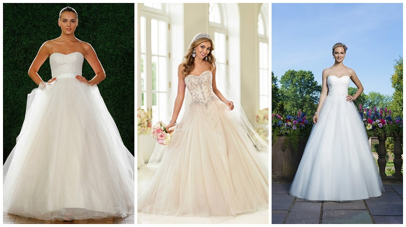 Tulle wedding dresses - princess 2