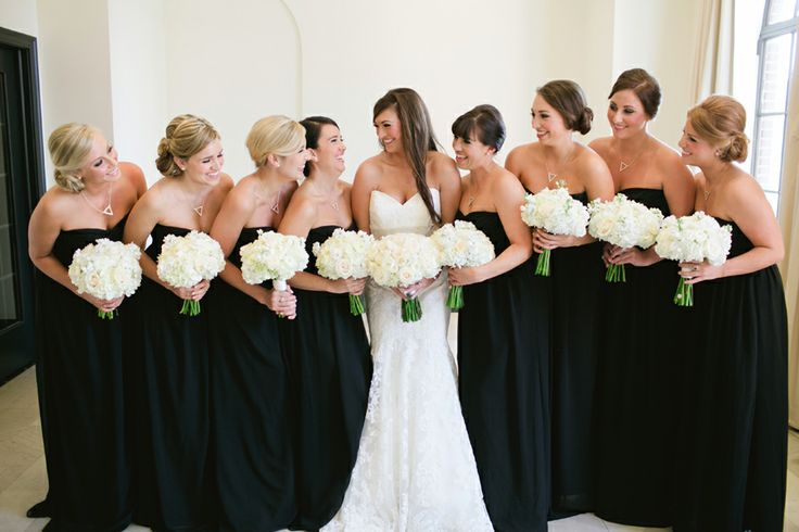 black-bridesmaid-dress- Styletodo.com