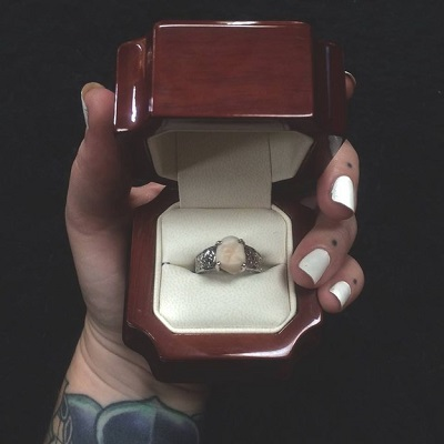 This woman's engagement ring is made from her partner's tooth