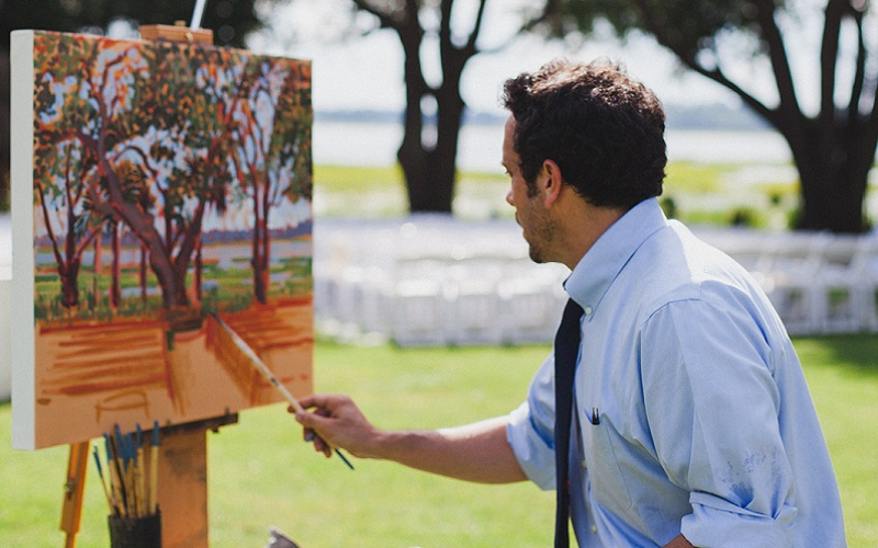 New trend alert – Introducing the wedding painter