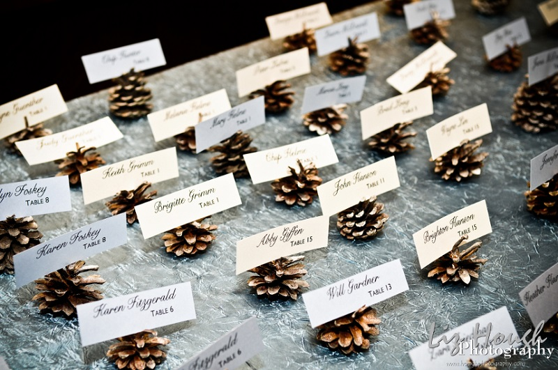 pine-cone-escort-cards. Intimateweddings.com