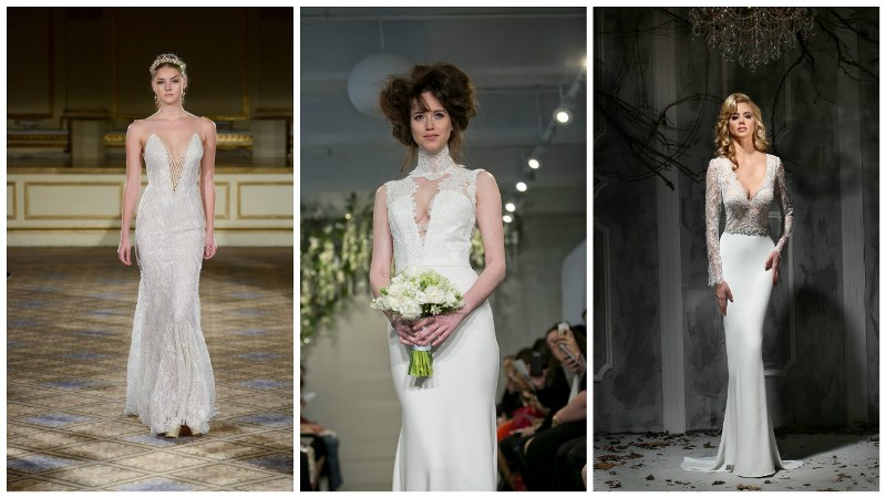 low-cut wedding dresses