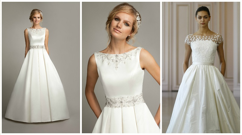 New trend alert! Pleated wedding dresses