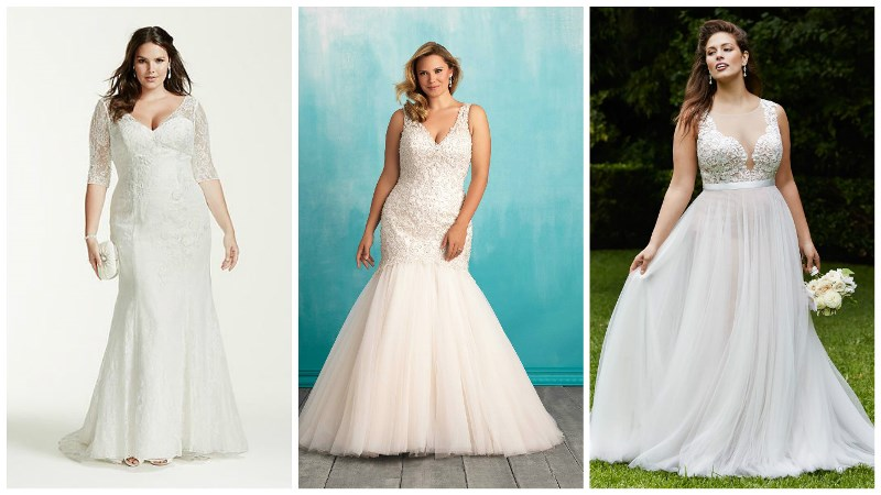 0f33f66c0a3a4 Guide To Plus Size Wedding Dress Styles for Curvy Brides   Wedding ...