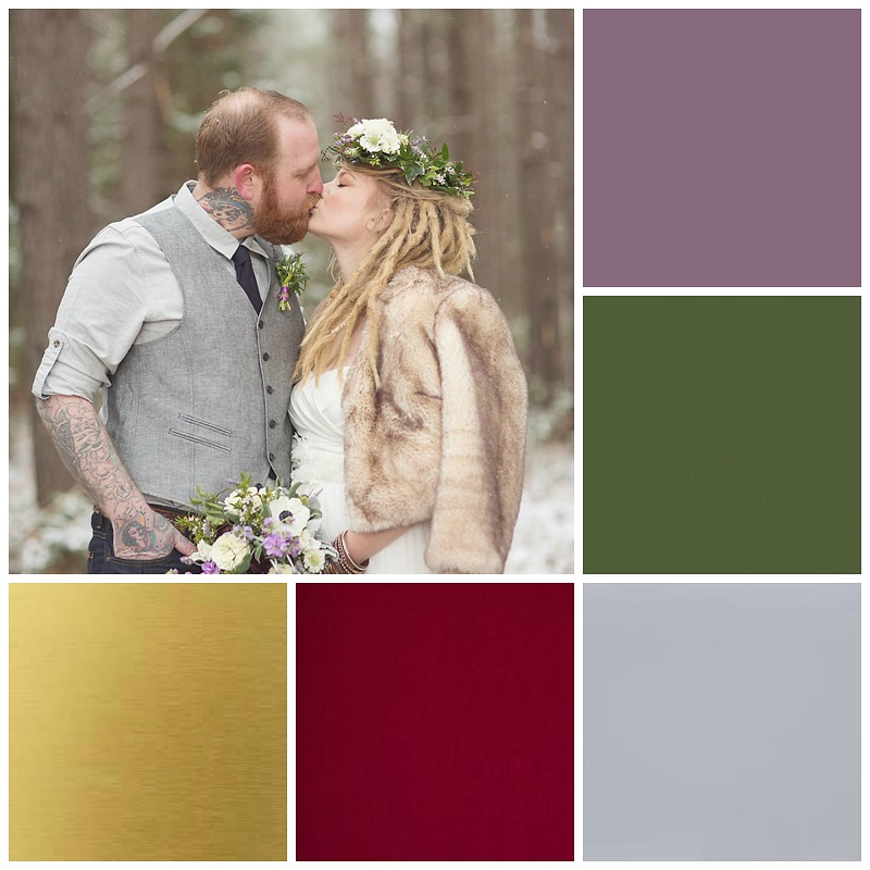 woodland wedding colour collage