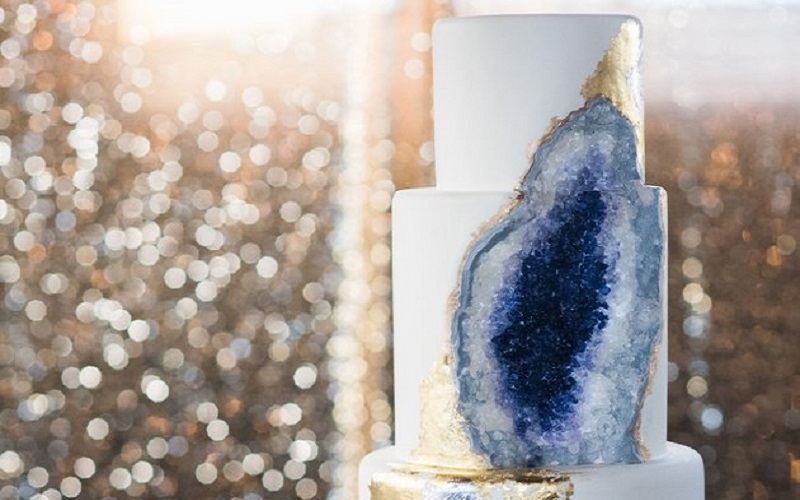 The wedding cake that looks like an amethyst and ten more show stopping creations