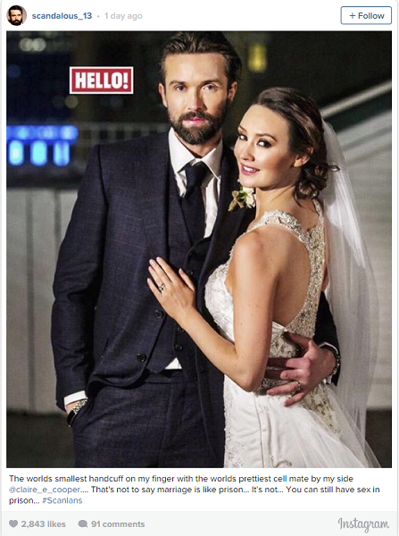Irish actor Emmett Scanlan shares wedding photos