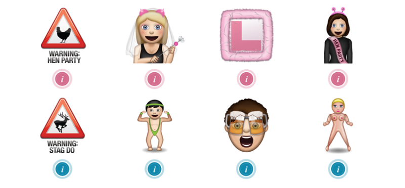 new wedding emojis