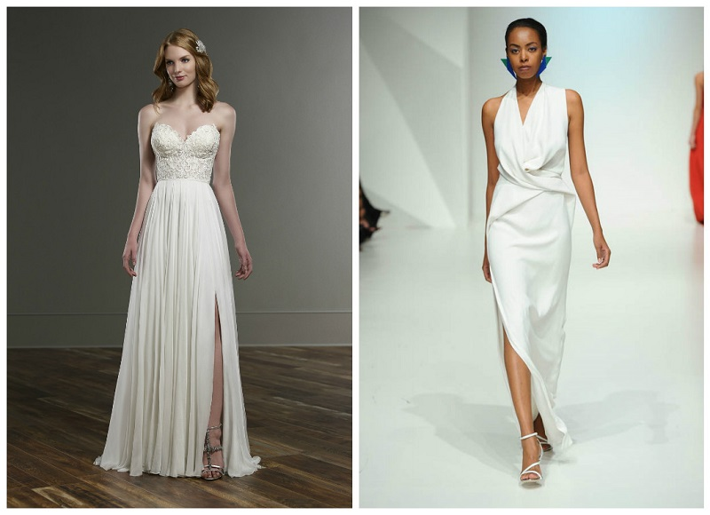 New trend! The thigh split wedding dress