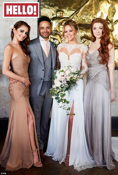 First photos of Kimberley Walsh's wedding dress