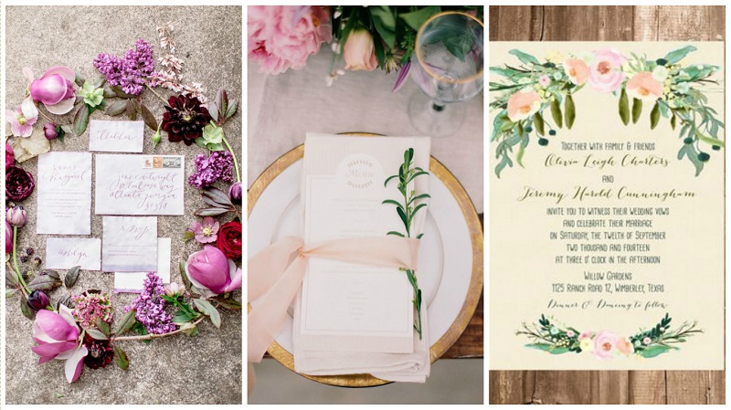 Pinterest spring wedding inspiration stationery