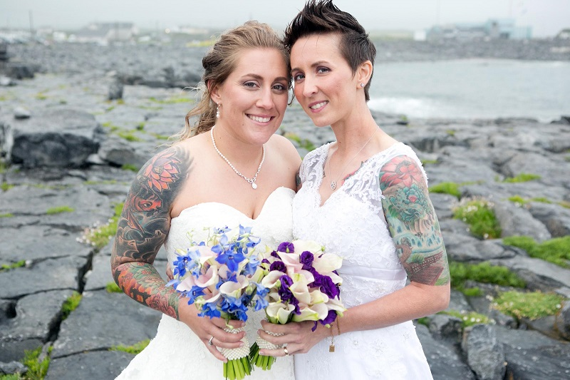 This couple married one misty day on a cliff top in County Clare